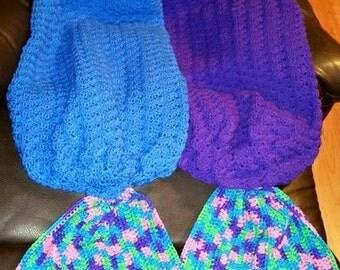 Crocheted mermaid tail