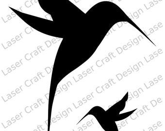 Humming Birds Stencil