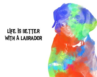 Unique labrador Dog Digital Art Download