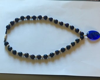 Dreamy blue and silver necklace