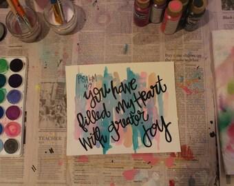 "7.5"" x 9"" Watercolor Print - ""Greater Joy"""
