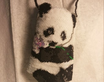 Panda necklace bag