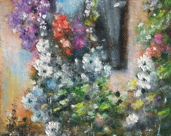 "At the window 2 - original oil painting 11"" x 8.6"" (28 cm x 22 cm)"