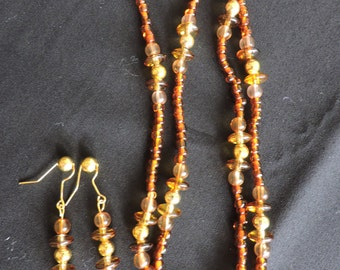 Amber Necklace/Earring set