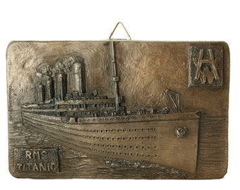 "Bronze RMS Titanic Hanging Decoration 4"" [TSF28]"