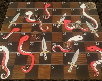 Shivs & Snakes - Boardgame with dwarf figurines