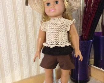 """Crocheted 18"""" & AG Dolls- Home on the Range"""