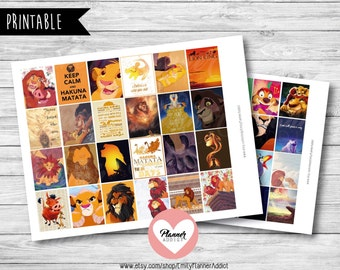 50% OFF SALE  Lion King Planner,Lion King stickers,disney planner,full boxes,eclp disney,Lion King quote,Simba stickers,Mufasa-COD81