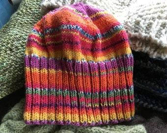 Fire striped slouch hat