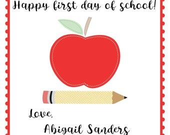 Back to School Gift Tags - Printable