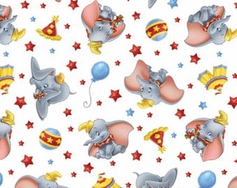 Disney Fabric -Dumbo Fabric- Dumbo's Circus Fabric From Springs Creative