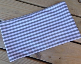 Handmade Gray striped dolly Sling/Pouch