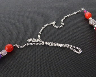 Chain Bookmarker with flower beads