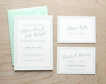 Playful Wedding Invitation Suite