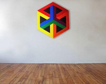 Irrational Cube - Acrylic on canvas - 53cm x 60cm