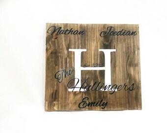 Family Name sign - Name est Sign - family name est sign - Name sign - Family sign - wedding sign - wedding decor - rustic decor
