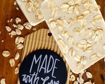 Purely Made With Love Oatmeal Honey Bar Soap- Made to order!