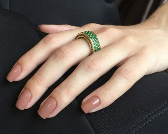 Eternity Band, Emerald Eternity Ring, Eternity Ring, Gold Stacking Rings, Bands, Emerald Band