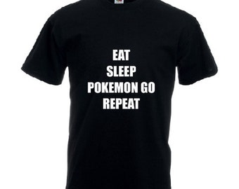 Pokemon Go slogan t-shirt black unisex