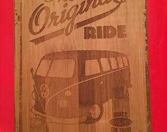 VW cool wall art, camper van/bus bamboo wall art
