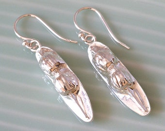 Silver Seed Pod Earrings