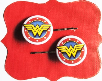 Wonder Woman Superhero Bobby Pins - Hair Pins Justice League Costume