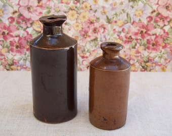 FREE SHIPPING! - Pair of Old Inkwells / Antique Inkwells / Vintage Ink Bottles / Old Pouring Bottles
