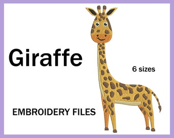 Giraffe - Design for Embroidery Machine Digital Graphic Filled Stitch Instant Download Commercial Use animal safari jungle File 53e