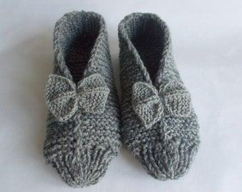 Slippers socks Women's socks hand knitted Slippers for the house