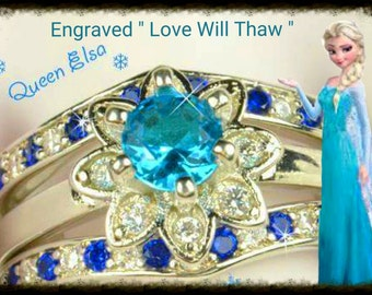 "Elsa's ""Love Will Thaw"" 3 piece Ring Set"