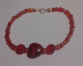 Brown heart bracelet