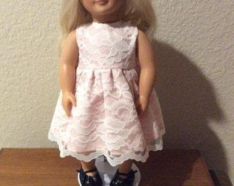 """Elegant Handmade Party Dress for 18"""" American Girl Doll"""
