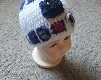 R2D2 Inspired beanie hat