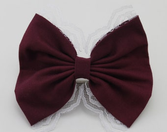 Maroon Deluxe Lace Bow