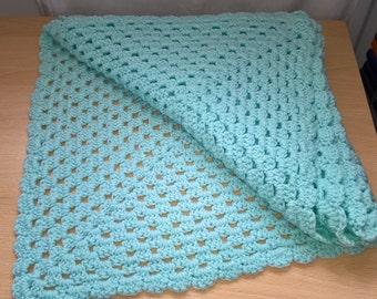 Hand crocheted Baby pram blanket