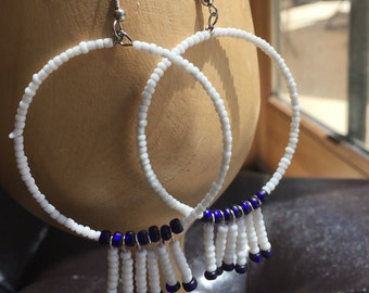 Hoop beaded beads earrings