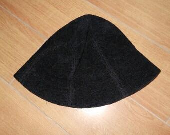 Vintage 90s Black Bucket Hat