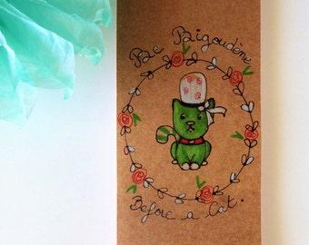 "Notepad Illustrated handmade "" Cat"""