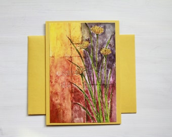 Dandelion Blank A6 Greeting Card with Envelope / Original Floral Art Print / All Occasion Card / Blank  Greeting Card / Thank You Card
