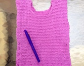 Organic Wool Baby Lilac Sweater Knit T-Shirt, Pink Purple Sweater Vest, Made in USA