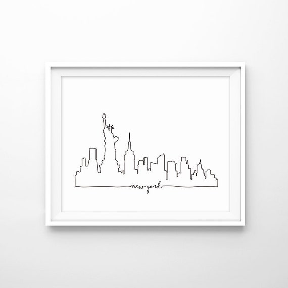New York Vector Drawinghand Drawnsketch Styleisolatedvector Stock ...