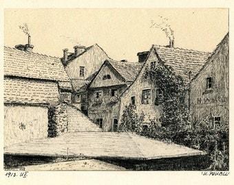 Vintage work 1913 by K. Pokall