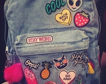 Stay Weird Patchwork Backpack