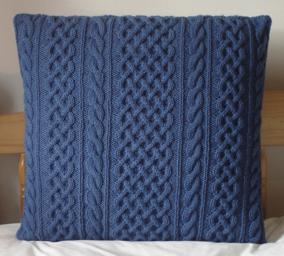 Mohair Cushion Knitting Pattern : Aran Wool & Mohair Hand Knitted Cabled Cushion Covers choice