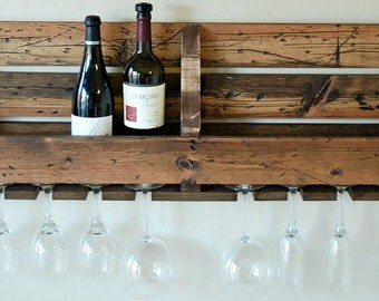hand crafted pallet wine rack