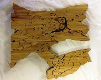 Handmade Wooden Owl Puzzel