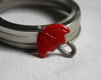 Red Umbrella charm