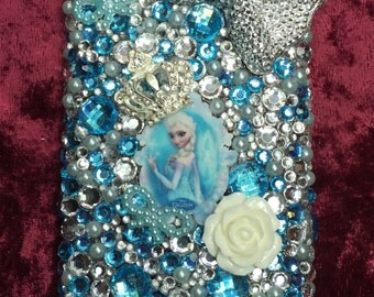 Elsa Frozen Christmas Bling Rhinestone Winter Themed iPhone 5c Case