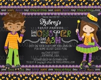 DIGITAL Custom Halloween Party Invitation/Halloween Birthday Invitation/Monster Party Invitation/Monster Mash Party (DIGITAL FILE)