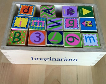 Wooden alphabet and Colors Blocks